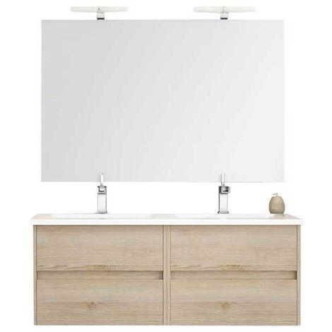 Ensemble de salle de bain LERMA 120 cm Bois clair