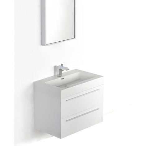 Ensemble de salle de bain T730, blanc, vasque et meuble sous vasque