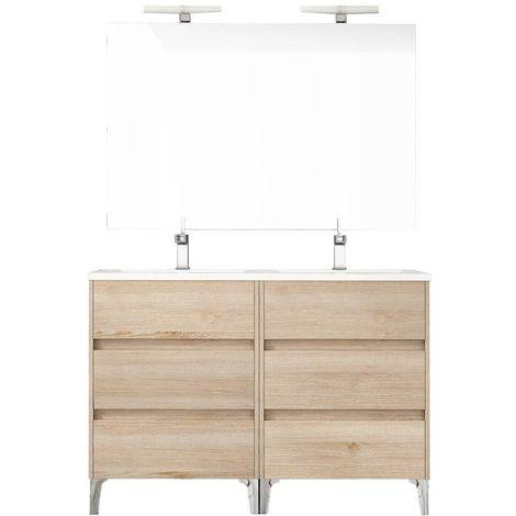 Ensemble de salle de bain TENERIFE 120cm bois clair