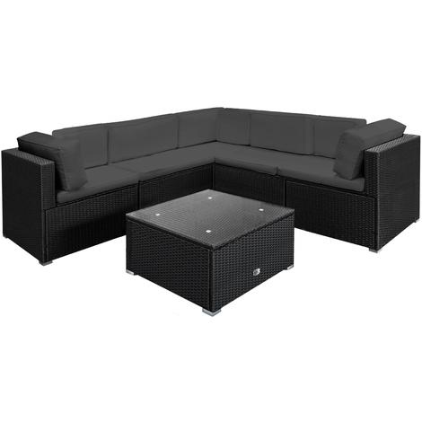 Ensemble de salon canapé XL polyrotin , coussins et table ...