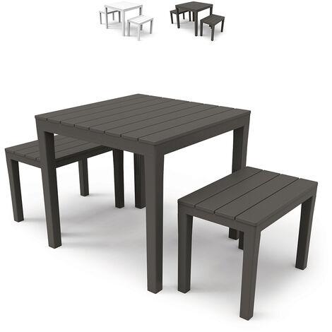 """main image of """"Ensemble de salon de jardin extérieur avec table et bancs Progarden Papua"""""""