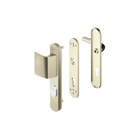 63509b11f7c Ensemble de sécurité blindé BlindoMax DISEC - int. béquille ext. palière -  clé i - champagne FFA - A0P55DF FFA