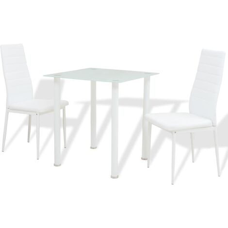 Ensemble table cuisine carrelée mosaïque + 4 chaises laquées