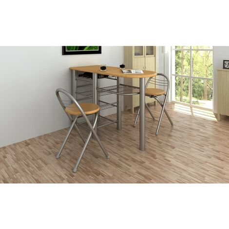 Ensemble de table et de chaises de bar / cuisine Bois