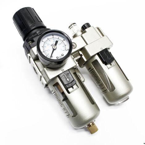 Ensemble de traitement d'air comprimé 12,91mm Filtre Régulateur Séparateur d'eau Lubrificateur