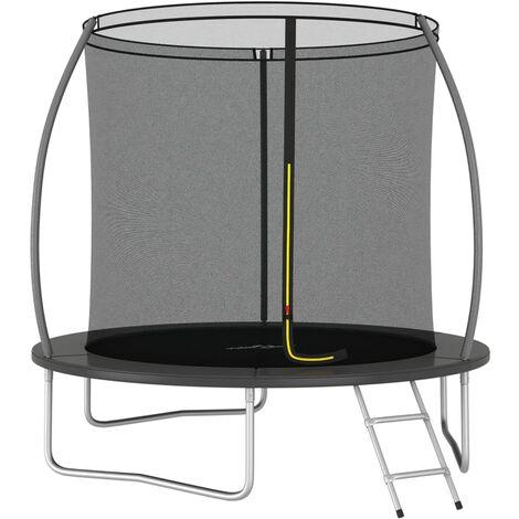 Ensemble de trampoline rond 244x55 cm 100 kg