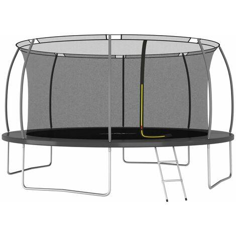Ensemble de trampoline rond 460x80 cm 150 kg