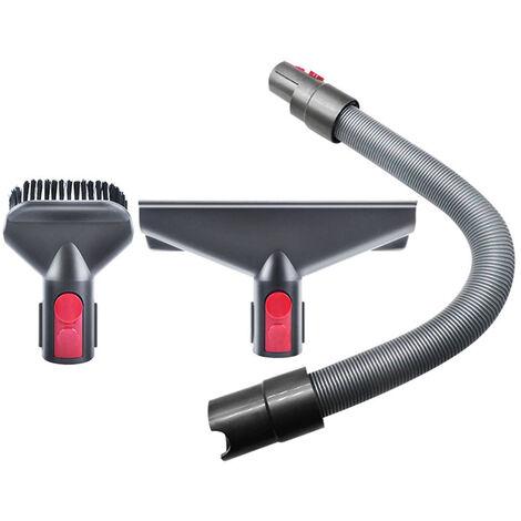 Ensemble de trois accessoires pour aspirateur Dyson (brosse a matelas + brosse ronde + tuyau) adapte aux modeles V7 / 8/10/11 portable