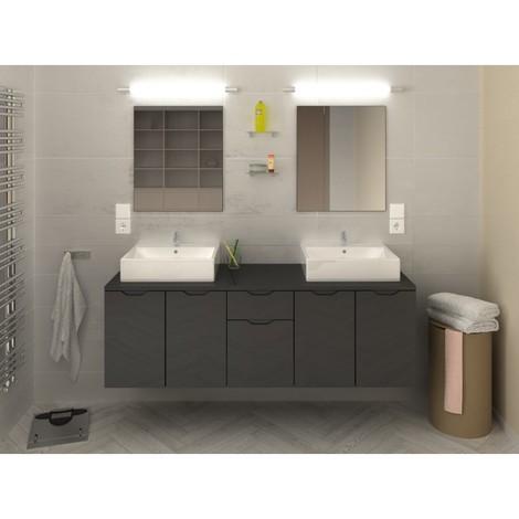 Ensemble design et moderne de salle de bain