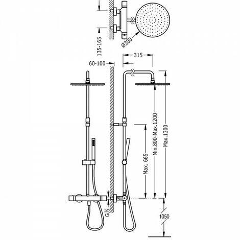 "main image of ""Ensemble Douche thermostatique - TRES 26121001"""