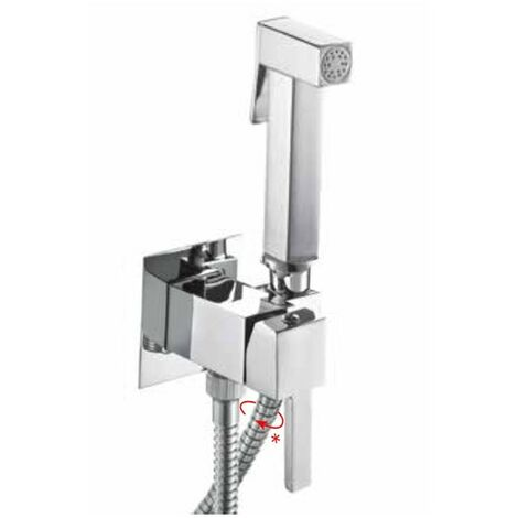 Ensemble douchette Hygiénique pour WC avec mitigeur eau froid et chaude