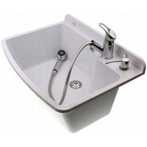 Ensemble évier + robinet domestique