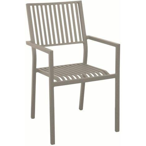 Ensemble gueridon GLOBE diam 80 gris + 2 chaise IDA pliante gris/rouge
