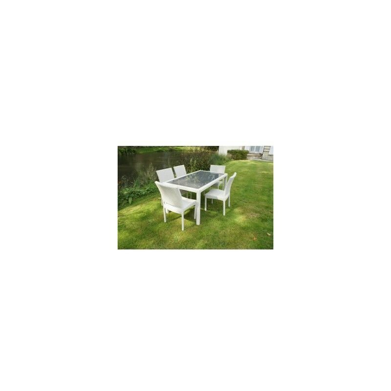 Chalet&jardin - Ensemble HAUT ASTONA - 1 table + 6 chaises