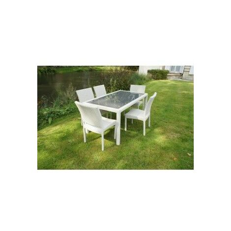Ensemble HAUT ASTONA - 1 table + 6 chaises