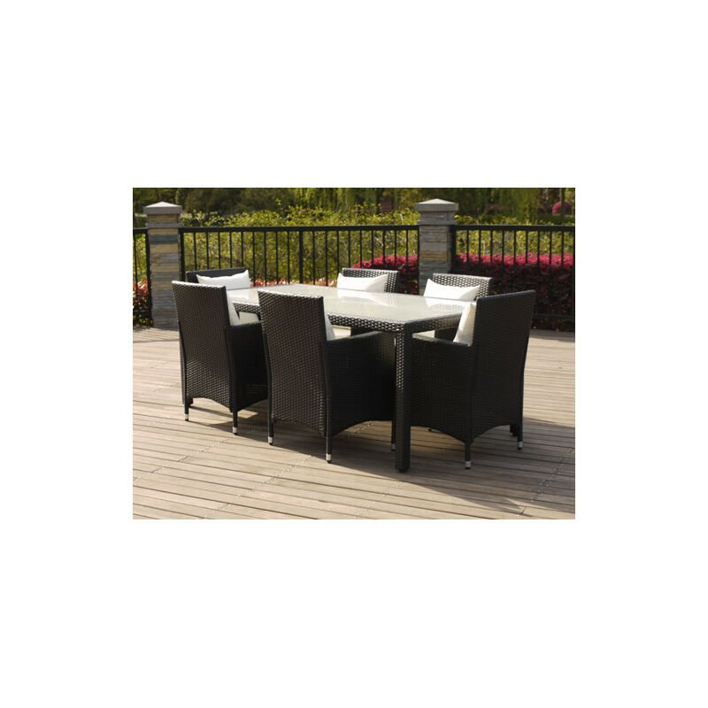 Chalet&jardin - Ensemble haut ATLANTA - 1 table + 6 chaises