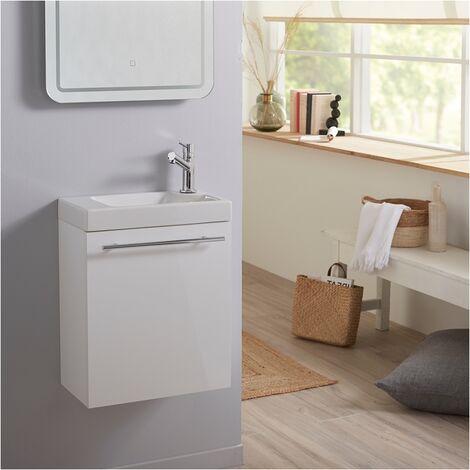 Ensemble lave mains blanc + lave mains hamac 3 + mitigeur