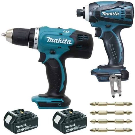 MAKITA 2 outils DDF453SFE + DTD146 (18V 2x3Ah) = DLX2022SJ3