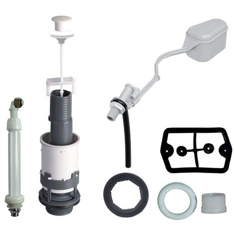 Ensemble Mécanisme wc Spécial Rénovation à tirette + robinet flotteur F12 - Wirquin Pro 10717738