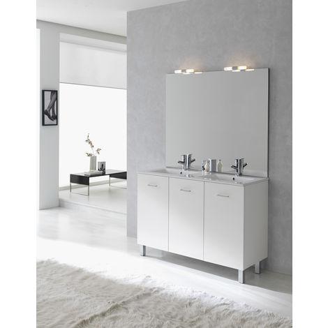 Ensemble meuble Ancoflash 3 portes sur pied - Anconetti - 120cm - Blanc brillant