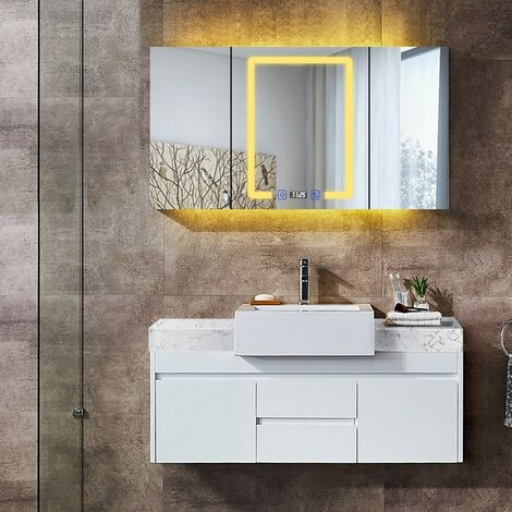 Ensemble meuble de salle de bain avec lavabo suspendu
