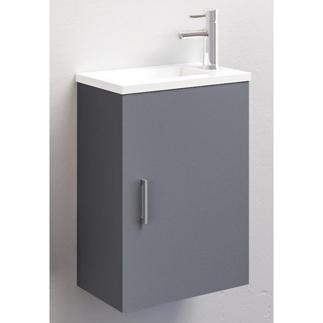 Ensemble meuble lave-mains Ancoflash - Anconetti - Gris anthracite