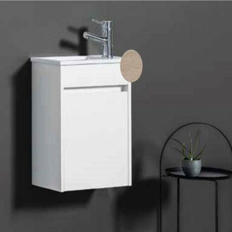 Ensemble meuble lave-mains et vasque Chêne clair - ARMOBANY MI4031F