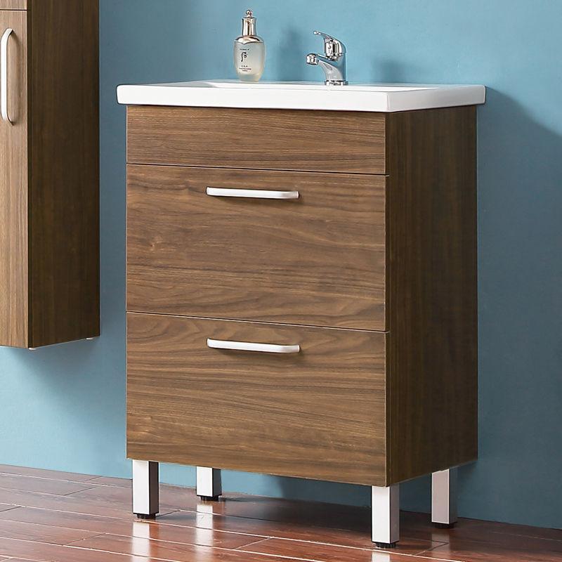 Ensemble meuble salle de bain et vasque 580x380x824 modèle de c?ur bleu