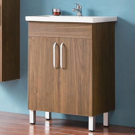 Ensemble meuble salle de bain et vasque 580x380x824 modéle de c?ur bleu