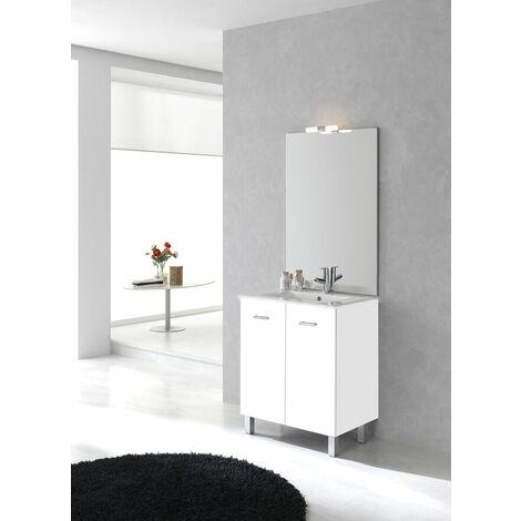 Ensemble meuble sur pied Ancoflash à portes - anthracite mat 60cm - simple vasque - 2 portes