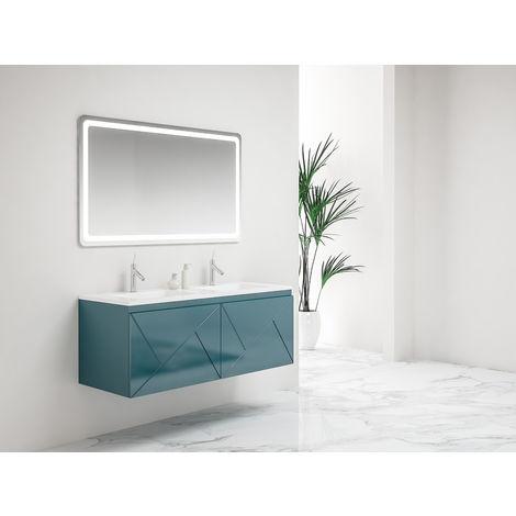 Ensemble meuble suspendu Ancodesign 4 tiroirs - Anconetti - Bleu - Largeur 120cm