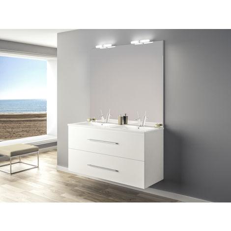 Ensemble meuble suspendue Ancoflash 2 tiroirs - blanc