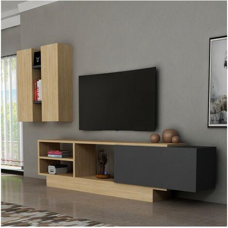 Ensemble meuble TV BENGU - Noir