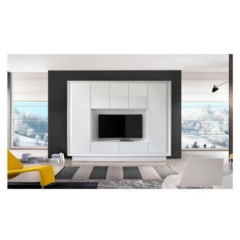 Ensemble meuble tv CIELO 240 cm - Blanc