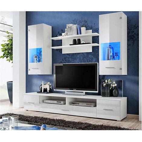 Ensemble meuble TV CORTE II blanc