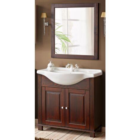 Ensemble meuble vasque + miroir - 65 cm - Retro - Livraison gratuite