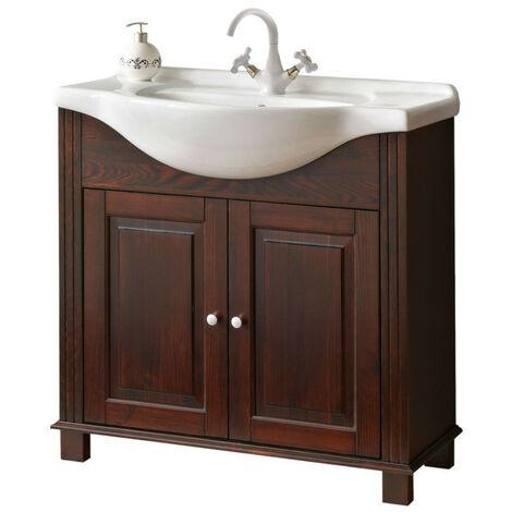 Ensemble meuble vasque + miroir - 85 cm - Retro - Livraison gratuite