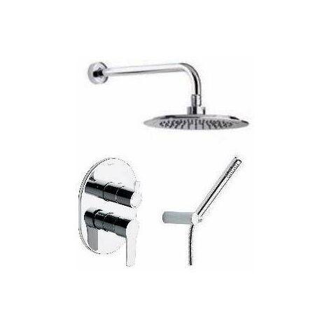 Ensemble mitigeur douche encastré avec douche de tête et douchette Titanium