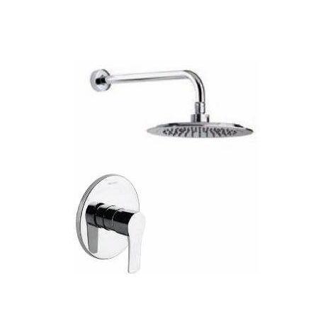 Ensemble mitigeur douche encastré avec douche de tête Titanium