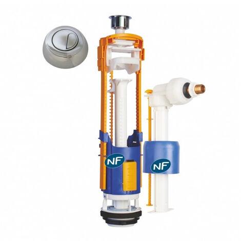 Ensemble NF mécanisme universel double débit et robinet flotteur hydraulique - Regiplast
