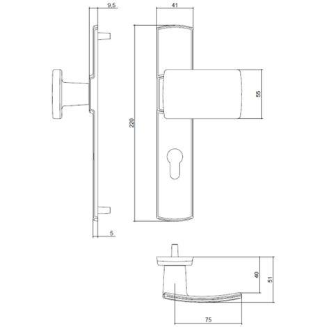 Ensemble palière 525 Scult SGN2 BEZAULT entraxe 195 mm chrome velours - 204378