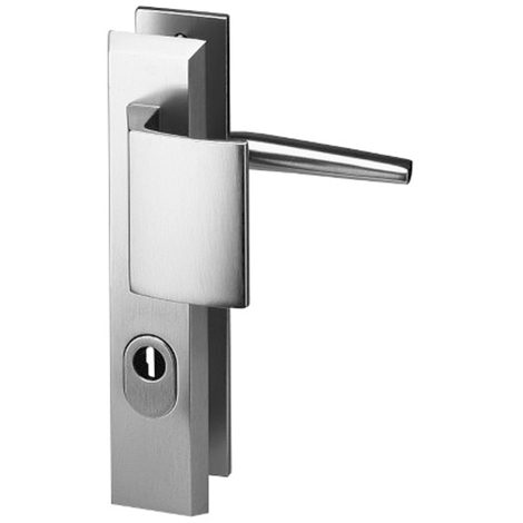 83a4a7a48c5 Ensemble palière à tirage reversible ALPHA sécurité cylindre aluminium  argent 210 mm de fixation