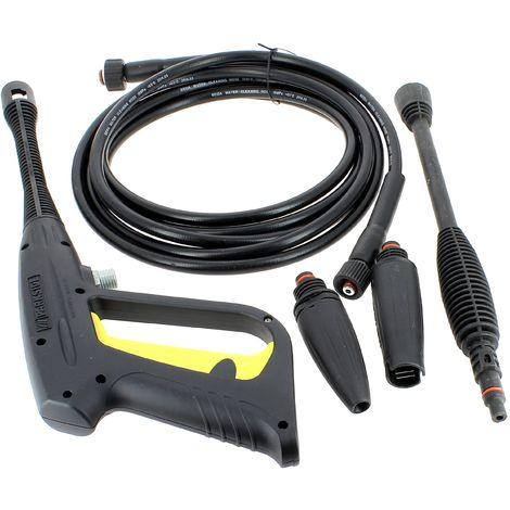 Ensemble pistolet + tuyau + lance pour Nettoyeur haute pression Parkside