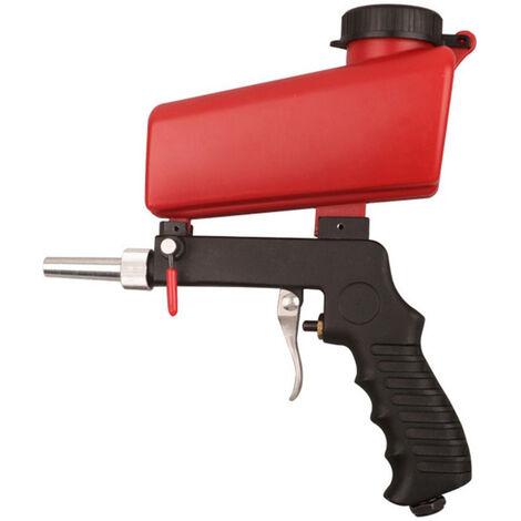 Ensemble pneumatique portable a gravite maison bricolage Mini dispositif de sablage 90psi sableuse antirouille reglable machine de sablage,modele:Rouge