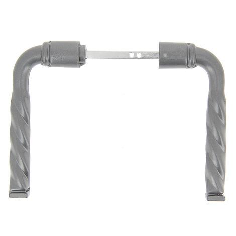 Ensemble poignée de porte Torsade en acier et aluminium déco fer