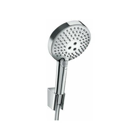 ensemble porte-douche Raindance Select S taille main 120 3jets PowderRain avec flexible de douche 160 cm, 27668000, chromé - 27668000