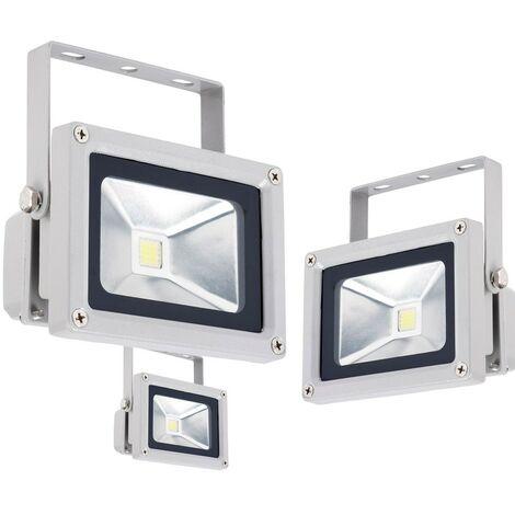 Ensemble Projecteur de chantier LED 10W luminaire extérieur spot pivotant lampe