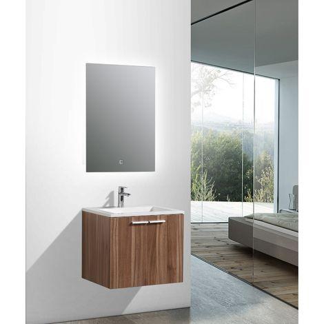 Ensemble salle de bain DO600 couleur noyer - en option miroir ou ...