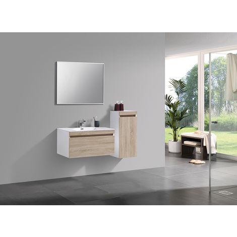 ensemble salle de bain easy 800 blanc fa ade couleur. Black Bedroom Furniture Sets. Home Design Ideas