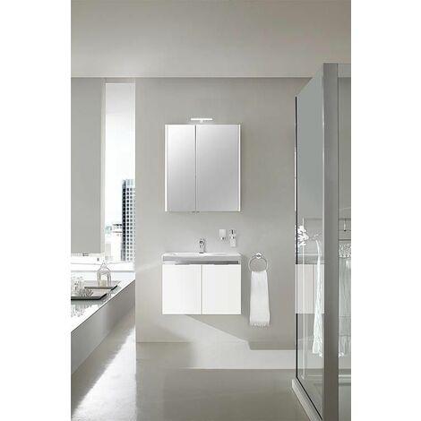 Ensemble salle de bain EOLA blanc brillant largeur 700 mm